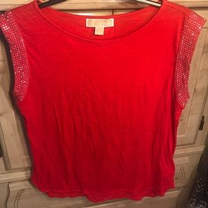 New Michael Kors Red top size Medium